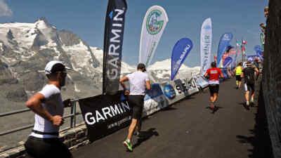 Das Ziel in Sicht beim Großglockner Berglauf