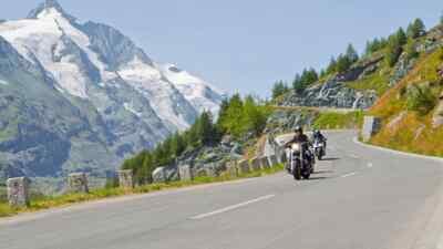 Harley Davidson bei einer Motorradtour auf der Großglockner Hochalpenstraße
