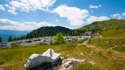 Webcamaufnahme auf der Villacher Alpenstrasse