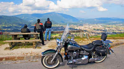 motorcyclist enjoy the views