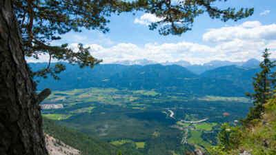 Landschaftsaufnahme rund um die Villacher Alpenstraße