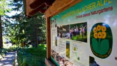 Alpengarten Infoschild